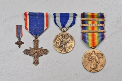 WWI U.S. DISTINGUISHED SERVICE CROSS GROUP TO 27th DIVISION – 1st TYPE FRENCH MADE CROSS