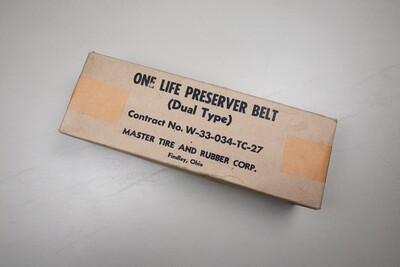 WWII U.S. M1926 D-DAY LIFE PRESERVER BELT IN ORIGINAL BOX - MINT