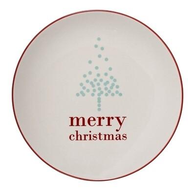 "Lėkštės ""Merry Christmas"" balta, akmens masė, 12 vnt"