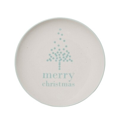 """Lėkštės """"Merry Christmas"""" Ø16 cm,  balta, akmens masė, 12 vnt"""