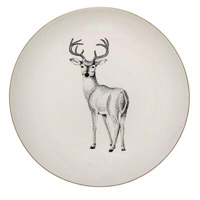 """Lėkštės Noel """"Elnes"""", balta, keramika, 12 vnt"""