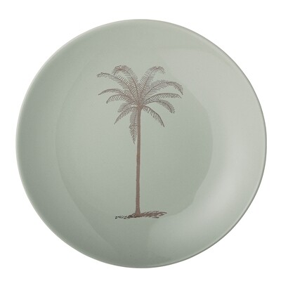 """Lėkštės """"Palma"""", žalia, keramika, 12 vnt"""