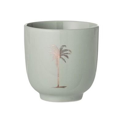 "Puodukai ""Palma"", žalia, keramika, 12 vnt"
