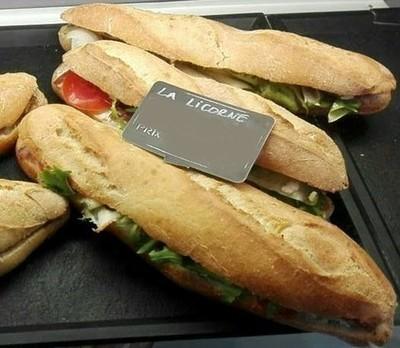 Le sandwich demi-baguette
