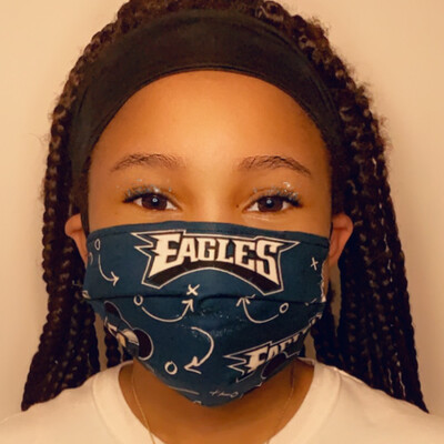 Kids Mickey Eagles Face Mask
