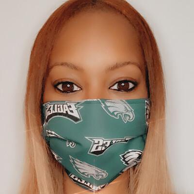 Glitter Eagles Face Mask