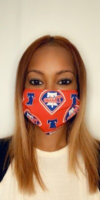 Red Phillies Face Mask