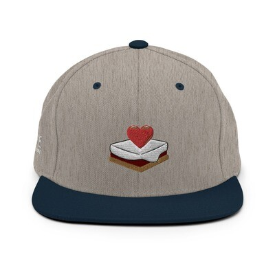 S'mores Amore Snapback Hat (Heather Gray/Navy Blue)