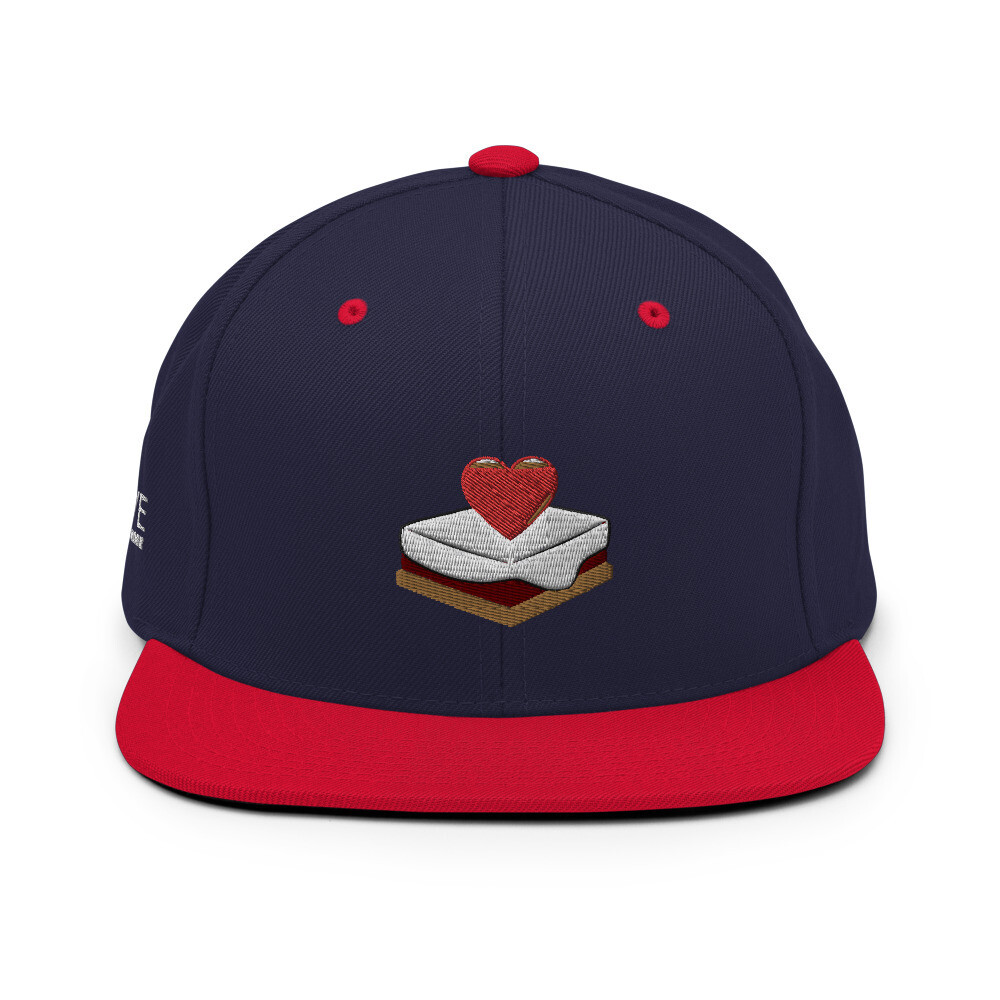 S'mores Amore Snapback Hat (Navy Blue/Red)
