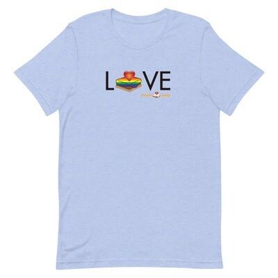 LOVE Rainbow Pride Short-Sleeve Unisex Tee