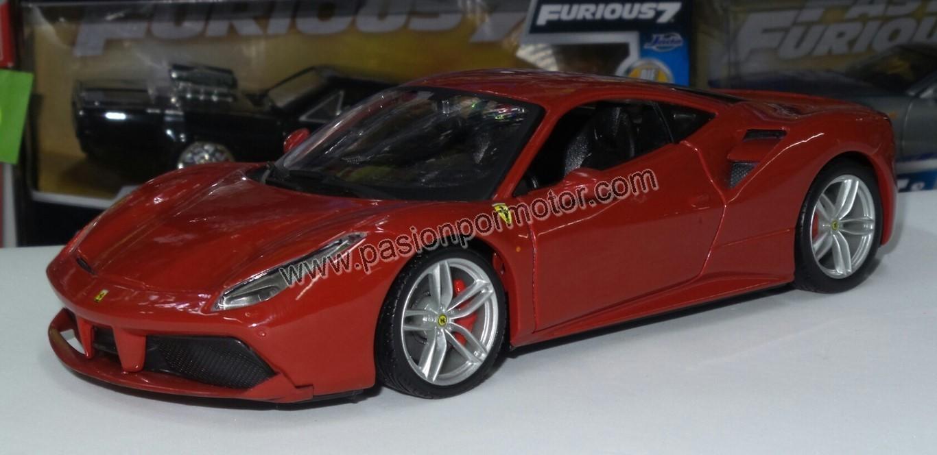 1:24 Ferrari 488 GTB 2015 Rojo Bburago Burago En Display / A Granel