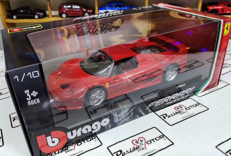 1:18 Ferrari F50 1995 Rojo Bburago Burago