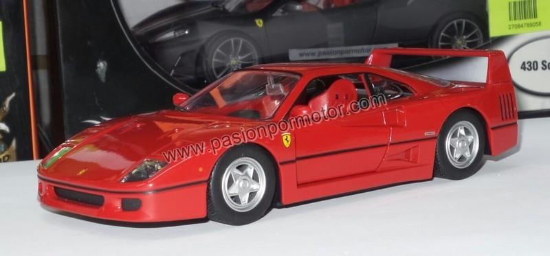 1:24 Ferrari F40 1987 Rojo Bburago Burago En Display / A Granel