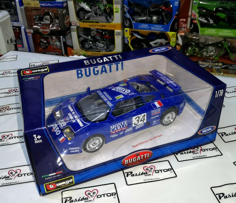1:18 Bugatti Eb110 Super Sport 1994 Azul Bburago Burago