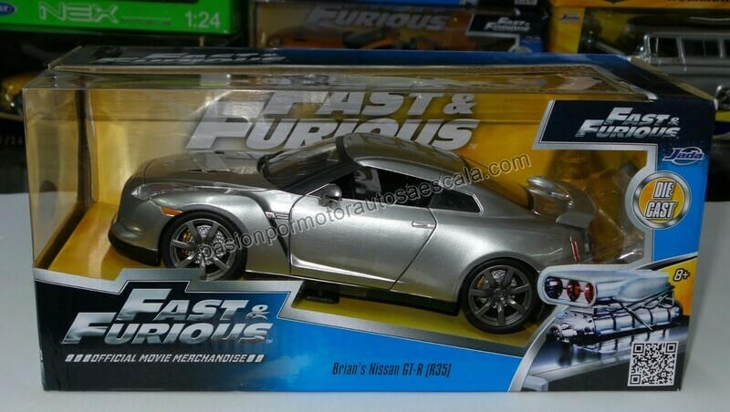 1:24 Nissan GT-R R35 2010 - 2011 Plata Rapido Y Furioso Jada Toys C Caja