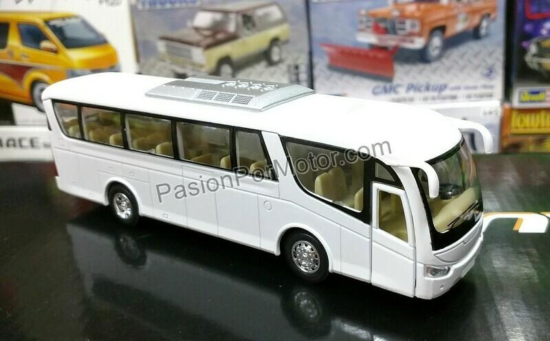 1:68 Scania Irizar Pb Blanco Autobus Kinsfun 1:64