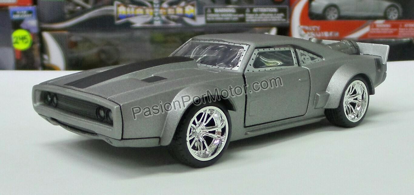 1:32 Dodge Charger 1968 Ice Toretto Rapido y Furioso Jada Toys En Display a Granel