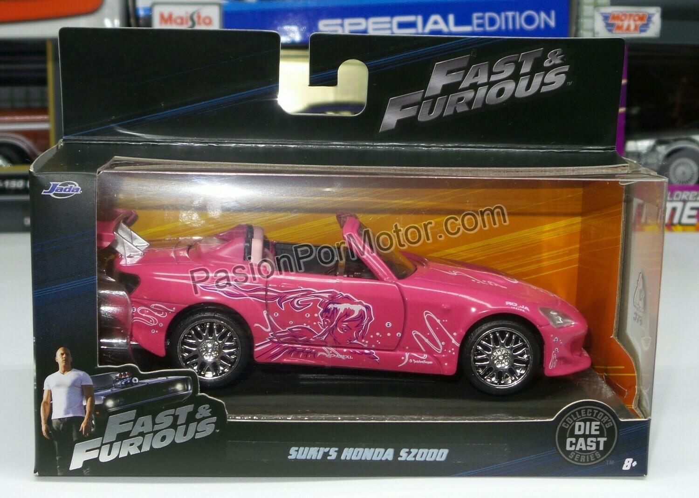 1:32 Honda S2000 Suki´s Rosa Rapido y Furioso Jada Toys En Caja