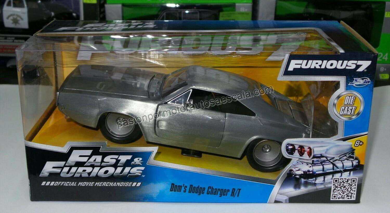 1:24 Dodge Charger R/T 1968 Zamac Dom's Toretto Rapido Y Furioso 7 Jada Con Caja