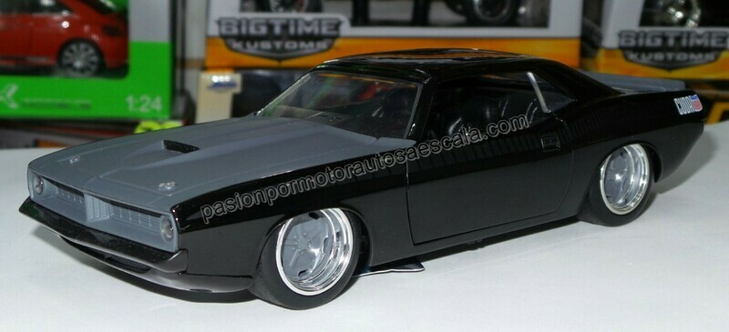 1:24 Plymouth Barracuda 1973 Negro Letty´s Rapido Y Furioso 7 Jada Toys En Display / A Granel