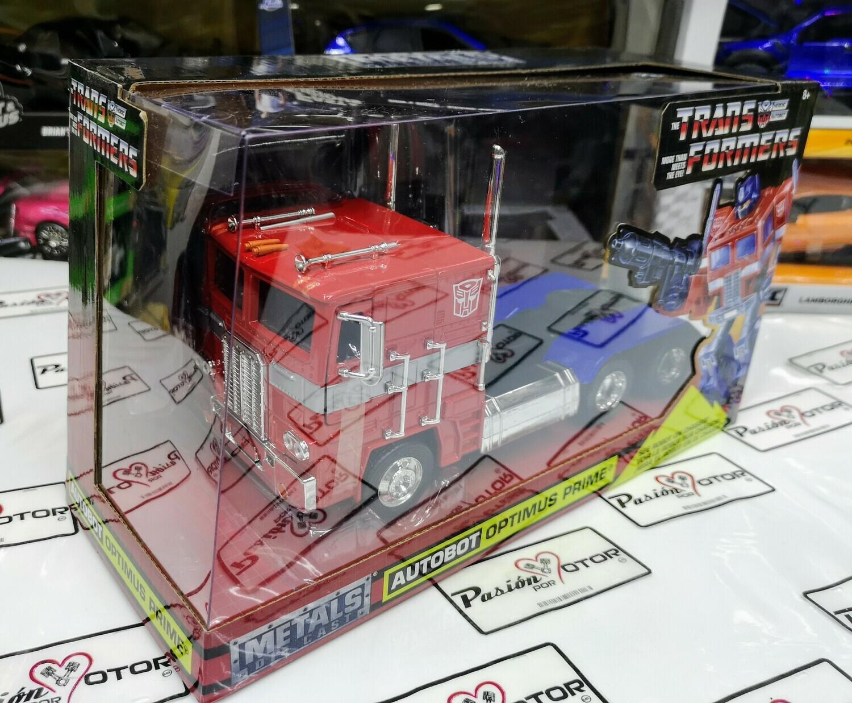 1:32 Freightliner Optimus Prime Original Años 80 Transformers Jada C Caja