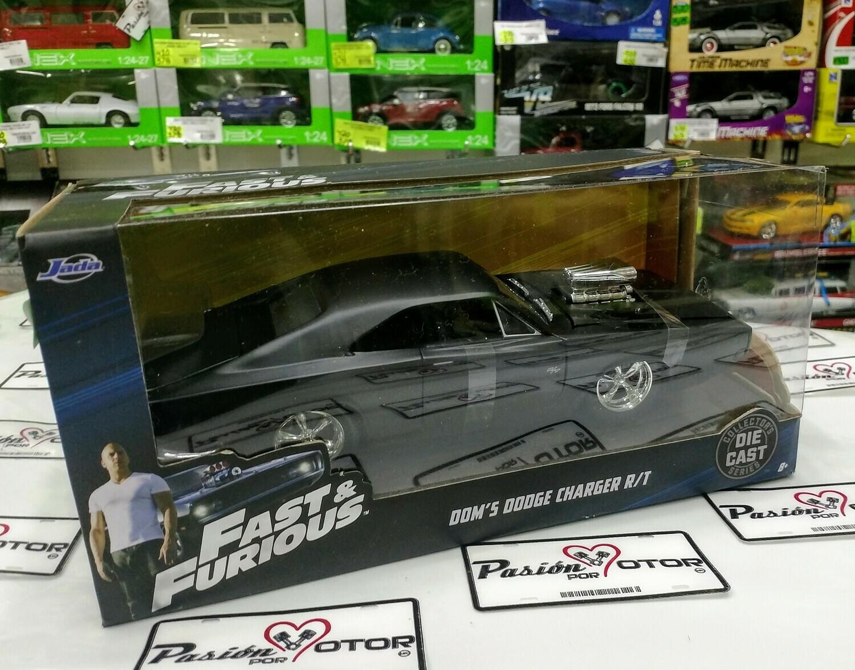 1:24 Dodge Charger R/T 1970 Negro Mate Dom's Toretto Rapido Y Furioso 4 Jada Toys Con Caja