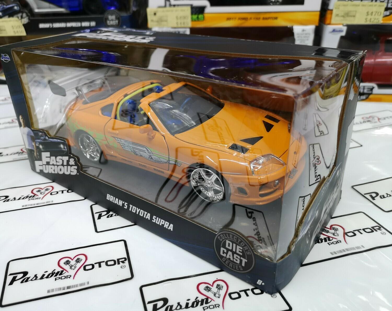1:24 Toyota Supra Naranja 1995 Brian's  Naranja  Rapido Y Furioso 1 Jada Toys C Caja