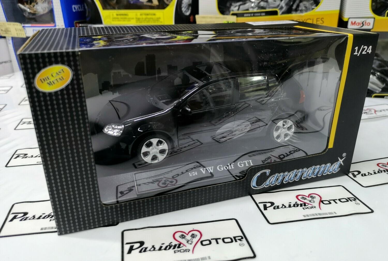 1:24 Volkswagen Golf A5 GTi 2004 Negro 4 Puertas Cararama En Caja