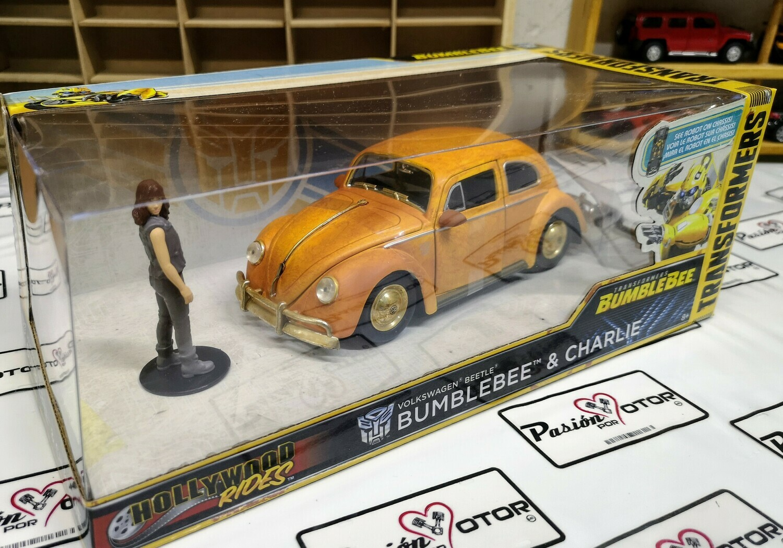 1:24 Volkswagen Beetle 1971 Bumblebee & Charlie  Jada Toys Hollywood Rides Transformers