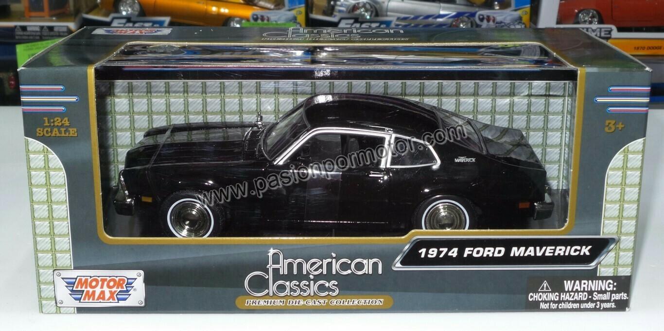 1:24 Ford Maverick Coupe 1974 Negro Motor Max C Caja