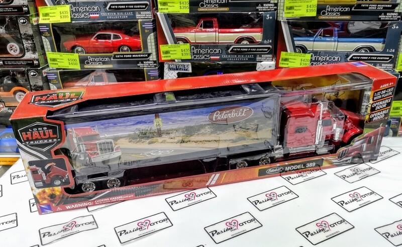 1:32 Peterbilt Model 389 Rojo C Caja Seca New Ray Trailer