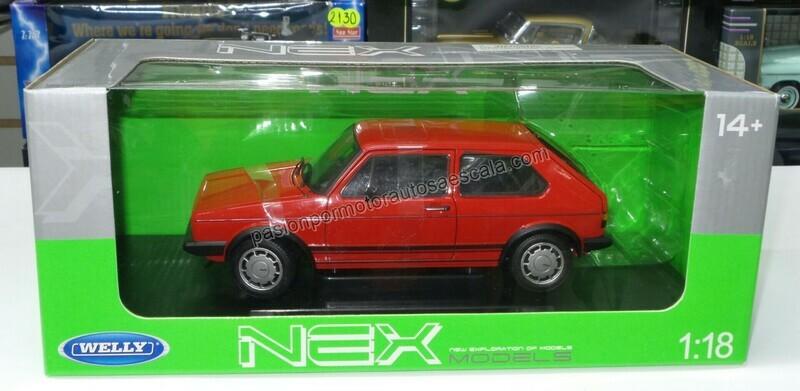 1:18 Volkswagen Golf GTi A1 1983 Rojo Welly Caribe