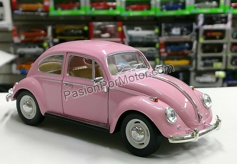 1:24 Volkswagen Beetle 1967 Classic Rosa Kinsmart En Display / A Granel