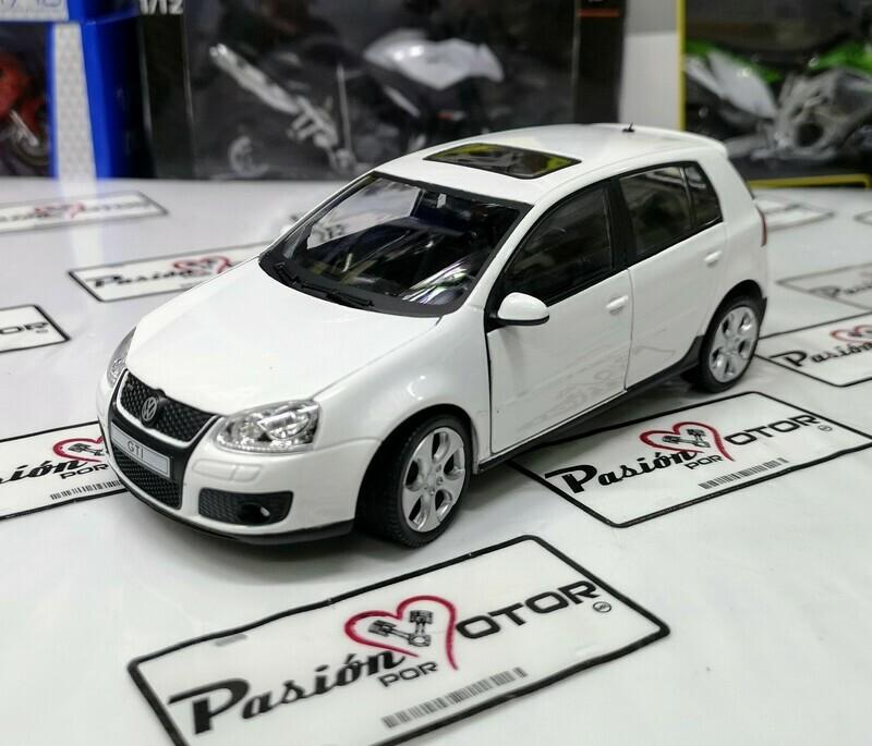1:24 Volkswagen Golf A5 GTi 2004 Blanco 4 Puertas Cararama En Display / A Granel