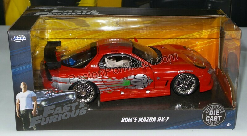 1:24 Mazda RX7 Dom's Toretto Rapido Y Furioso 1 Jada Toys Con Caja