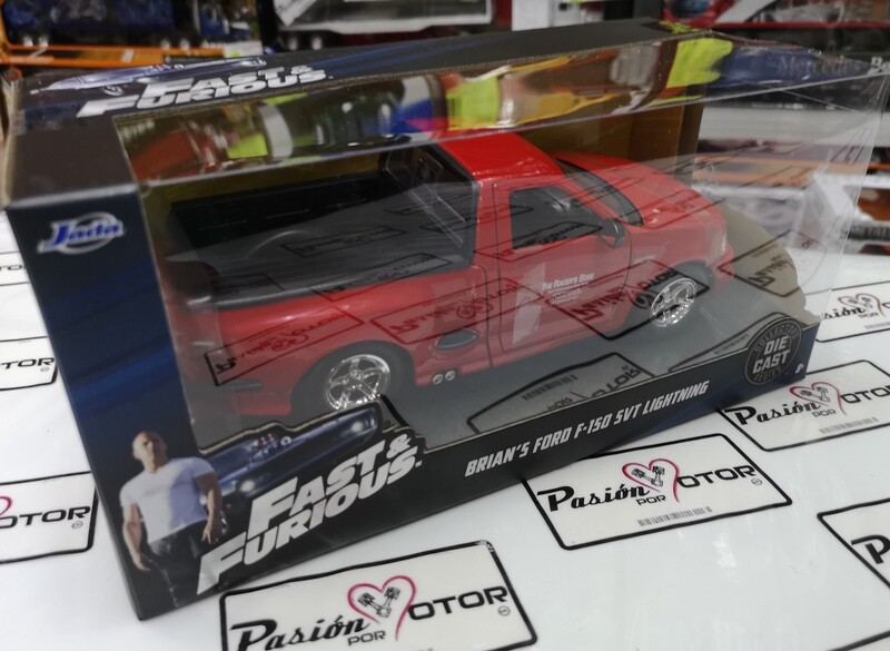 1:24 Ford F-150 SVT Lightning 1999 Brian's Rapido Y Furioso 1 Jada Toys Pick Up Con Caja