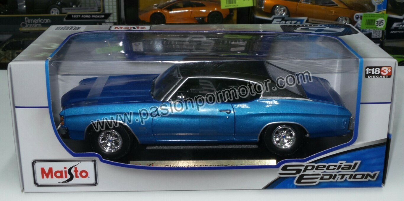 1:18 Chevrolet Chevelle SS Coupe 1971 Azul Maisto Special Edition
