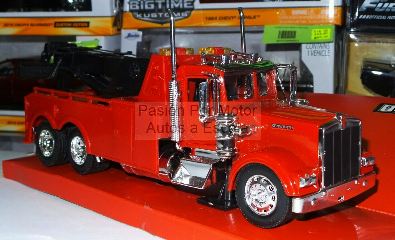 1:32 Kenworth W900 1979 Grua de Arrastre Torton Rojo New Ray