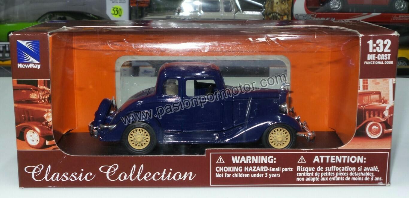 1:32 Chevrolet Coupe 5 Window 1933 Azul New Ray