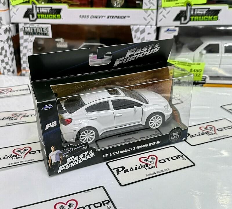 1:32 Subaru WRX STi 2016 Blanco Mr. Little No Boddy  Jada Toys Rapido y Furioso 8 En Caja