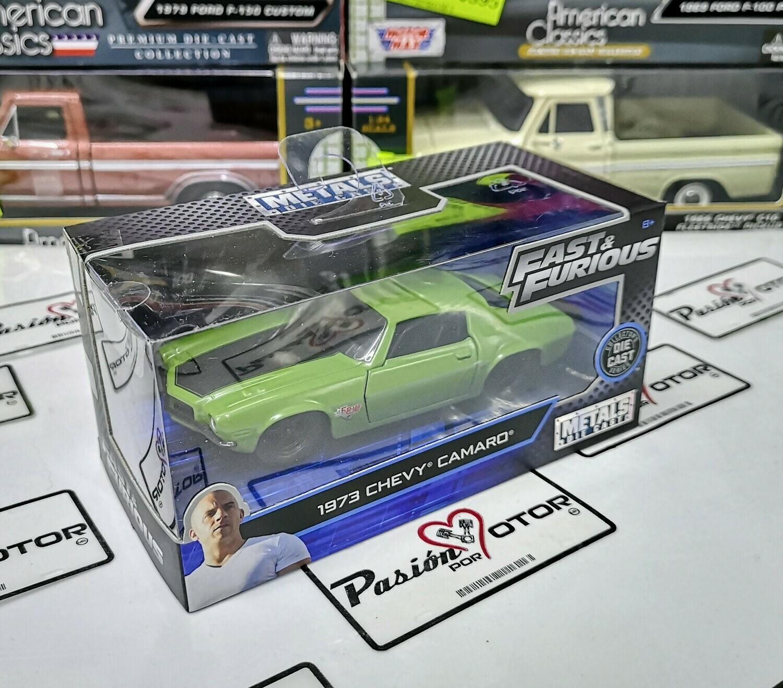 """1:32 Chevrolet Camaro 1973 """"F-Bomb"""" Jada Toys Rapido y Furioso 4 En Caja"""