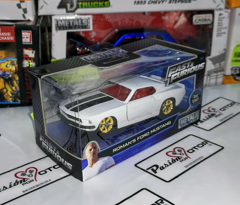 1:32 Ford Mustang 1970 Blanco Roman's Jada Toys Rapido y Furioso 6 En Caja