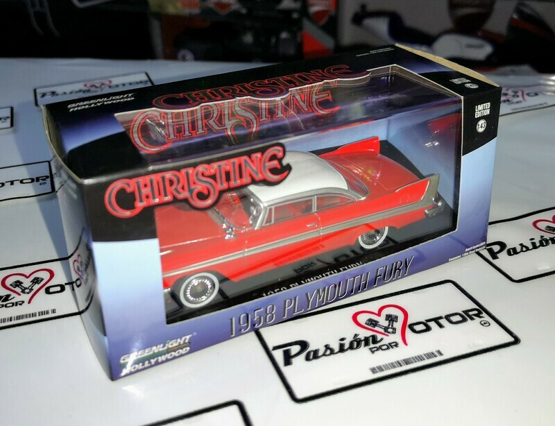 1:43 Plymouth Fury Coupe 1958 rojo Christine de Greenlight