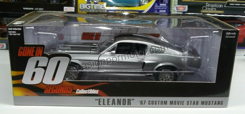 1:18 Ford Mustang Custom 1967 Eleanor Gone In 60 Seconds Greenlight 60 Segundos Shelby GT500