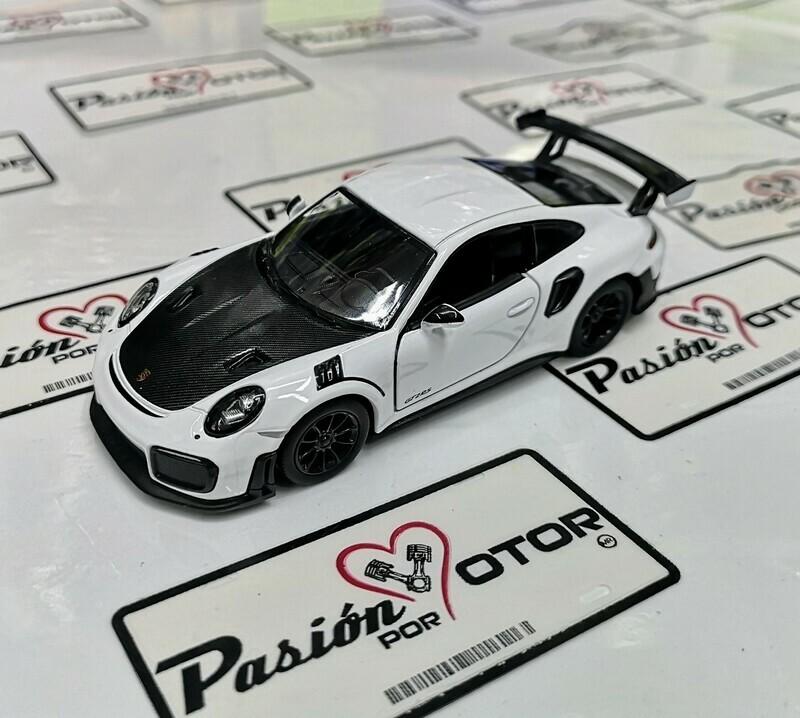 1:36 Porsche 911 GT2 RS 991 2017 Blanco Kinsmart En Display a Granel 1:32