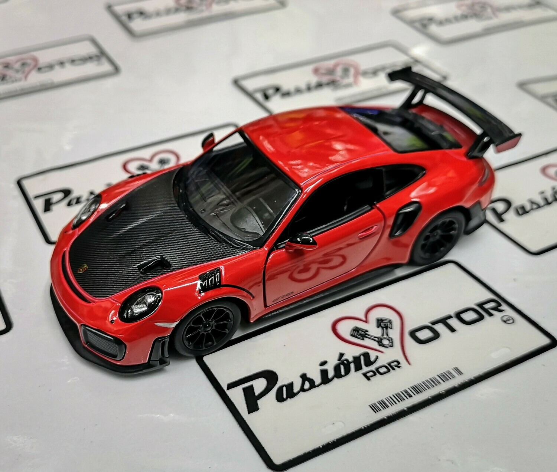 1:36 Porsche 911 GT2 RS 991 2017 Rojo Kinsmart En Display a Granel 1:32