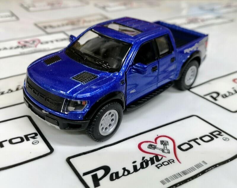 1:46 Ford F-150 SVT Raptor Super Crew 2013 Azul Pick Up Kinsmart En Display a Granel 1:43