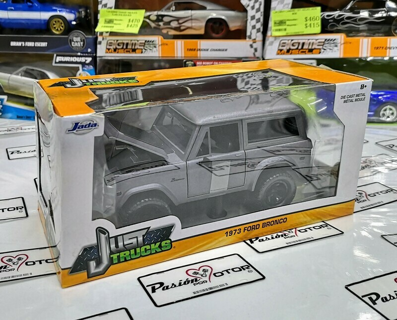 1:24 Ford Bronco 1973 Gris Mate Jada Toys Just Trucks C Caja