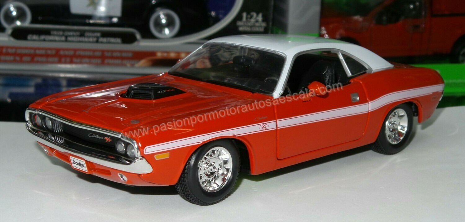 1:24 Dodge Challenger R/T Coupe 1970 Rojo Maisto Special Edition En Display / A Granel