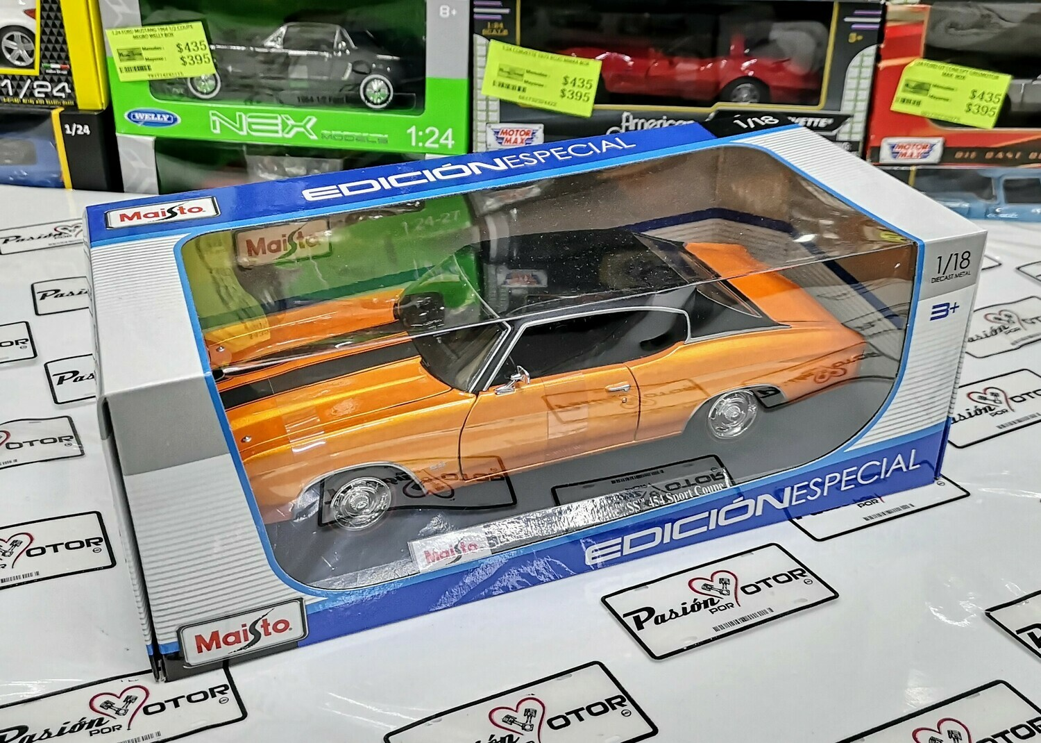 1:18 Chevrolet Chevelle SS 454 Sport Coupe 1971 Naranja Maisto Special Edition